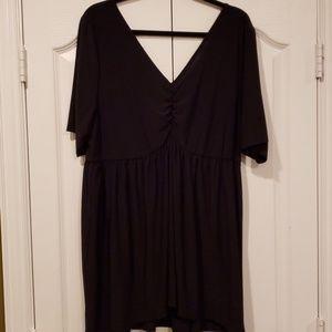 Torrid, 2X, black vneck blouse